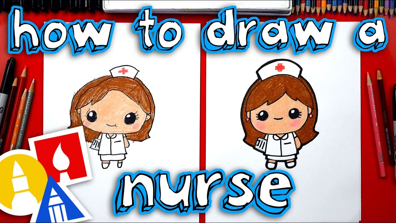 How To Draw Cartoon Nurse Youtube