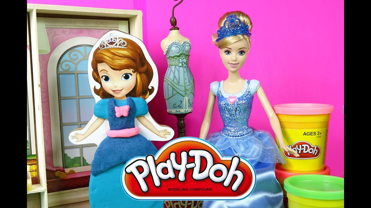 How to make PlayDoh Cinderella Dress for Sofia The First ...