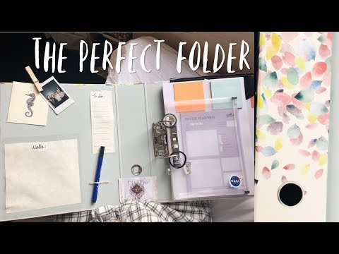 Organised Folder DIY || The Perfect Study Partner (and Easy To Make!).
