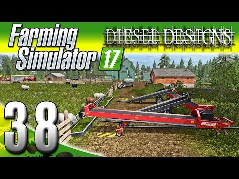 Farming Simulator 2017 Gameplay :EP38: Automatic Conveyor Clean & Feed! (PC HD Goldcrest Valley)