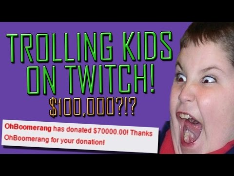 Fake Donation Trolling on Twitch! HUGE DONATIONS!!