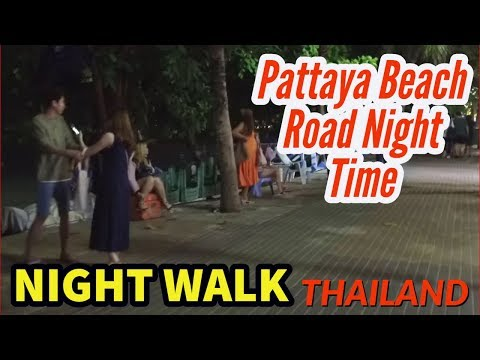 Pattaya Beach Road Saturday Night 10.03.2018 21:00 Thailand [Arguing]