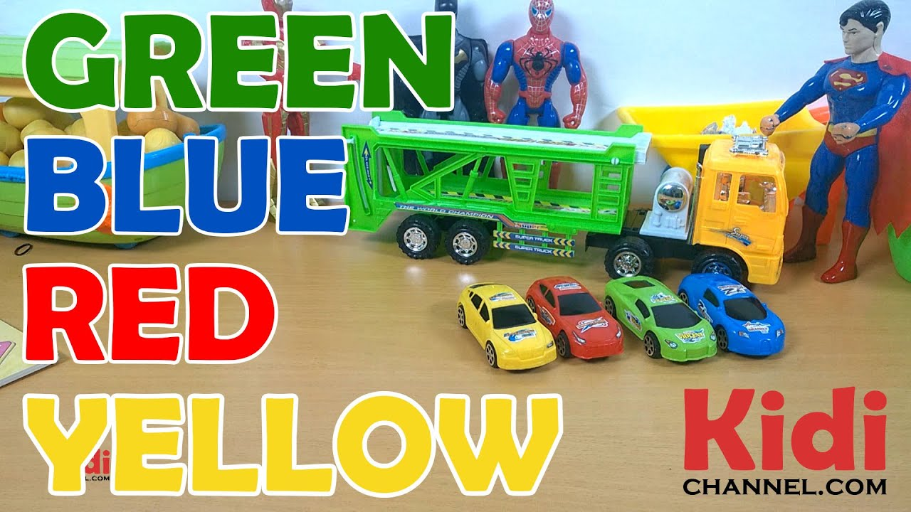 Learn Colors With Racing Toy Cars Video For Kids