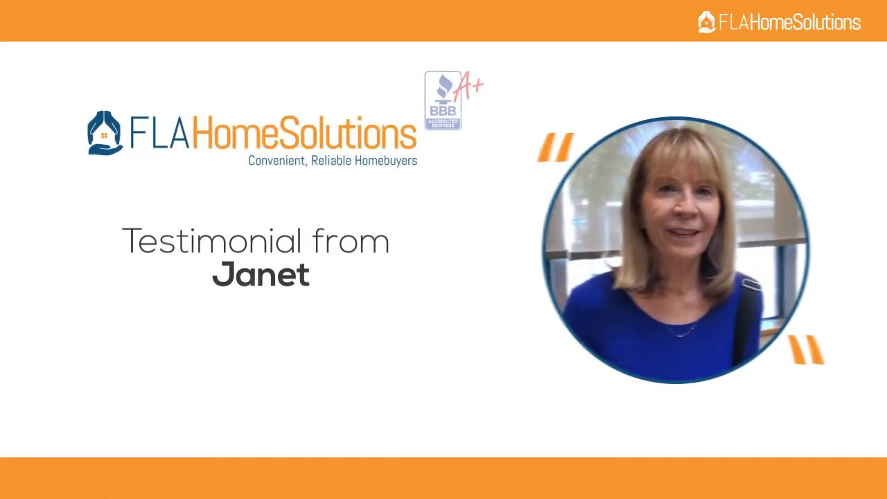Visit www.FLAHomeSolutions.com Call 305-602-4105 Janet's Testimonial for Creative RE-Solutions