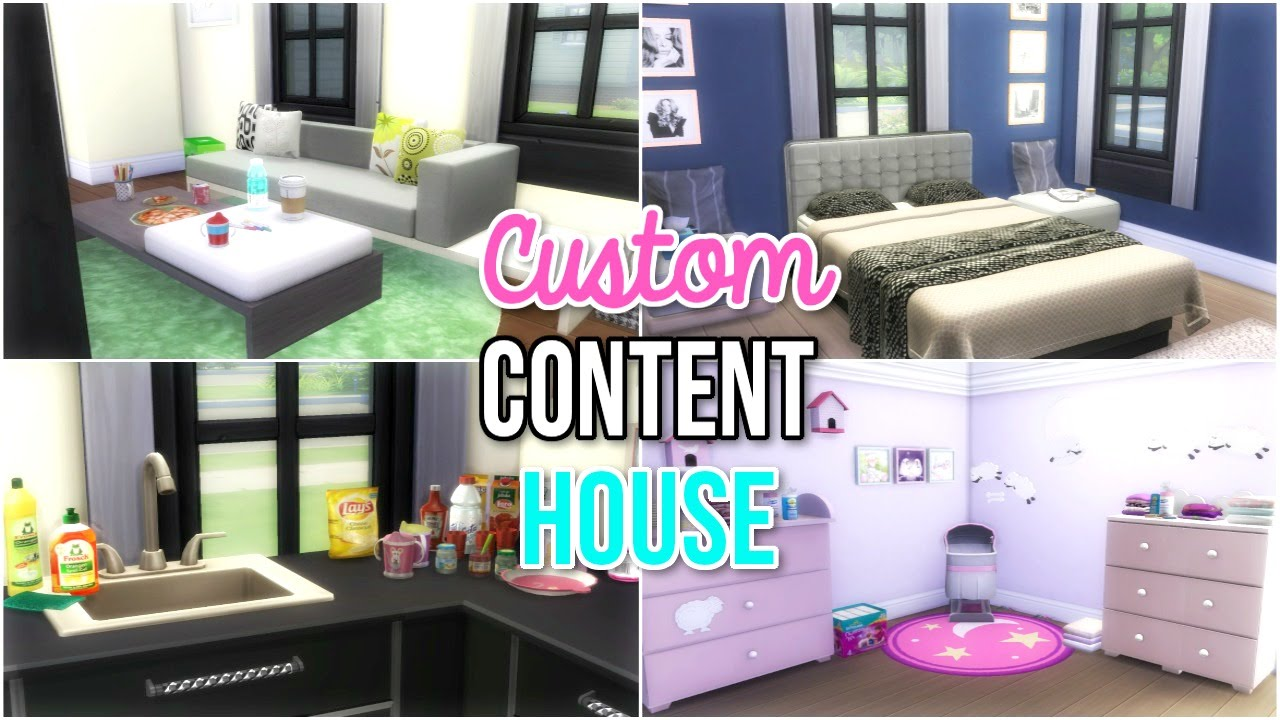 The Sims 4 Custom Content House Build Youtube