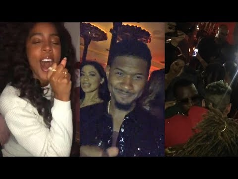 Usher's Star-studded 40th Birthday Party! Can You Believe He's Over The Hill?!