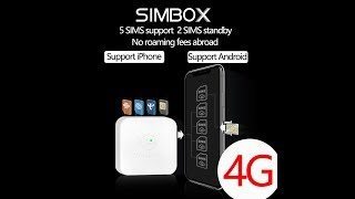 4G SIMBOX 5SIM 3Standby No Roaming abroad for iPhone and Android