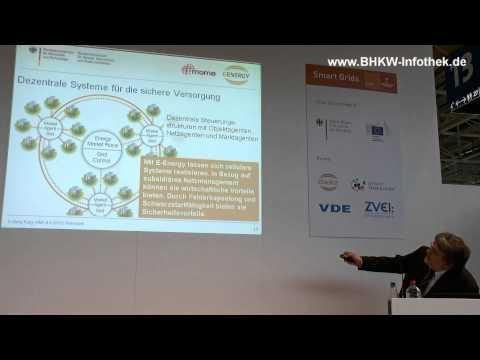 Vortrag zu E-Energy auf dem Smart Grids Forum der Hannover Messe 2013