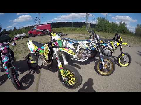 Supermoto with querly | one day Grenzgaenger  | Wheelie time