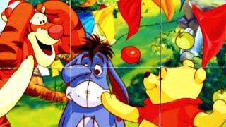 Винни Пух Дисней Веселые игры - собираем кубики пазлы для детей с героями мультика Винни Пух