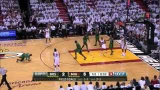 Rajon Rondo incredible flop Boston Celtics vs Miami Heat NBA Playoffs GM1 Eastern Finals Conference