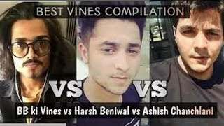 Harsh Beniwal Vs BB ki vines Vs Carryminati