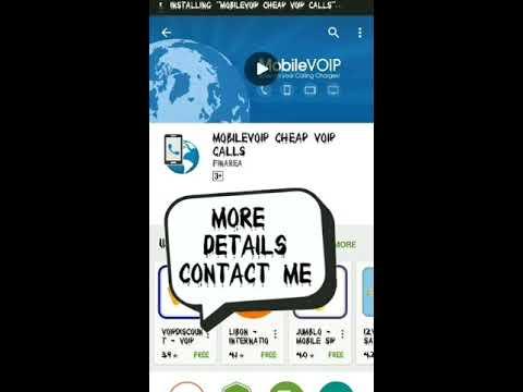 Cheap VoIP calling card apk installation