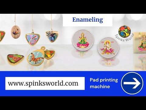 Multiple color Pad printing on Pendant and Coin | Jewelry printing machine | cold enameling on coin