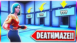 The GENIUS Riddle Deathmaze! (Fortnite Creative Mode)