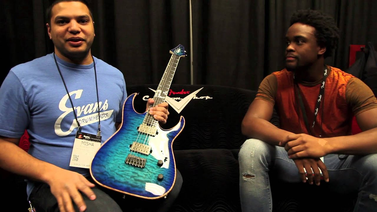 namm 39 15 interview with misha mansoor and his new signature jackson guitar youtube. Black Bedroom Furniture Sets. Home Design Ideas