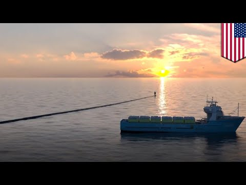 Ocean Cleanup Plastic collector almost ready for launch - TomoNews