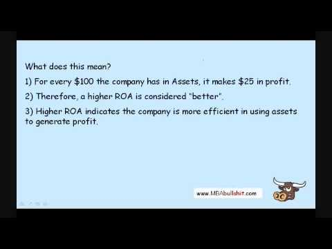 ROA Ratio in 10 min. - Return on Assets Ratio Financial Ratio Analysis Tutorial