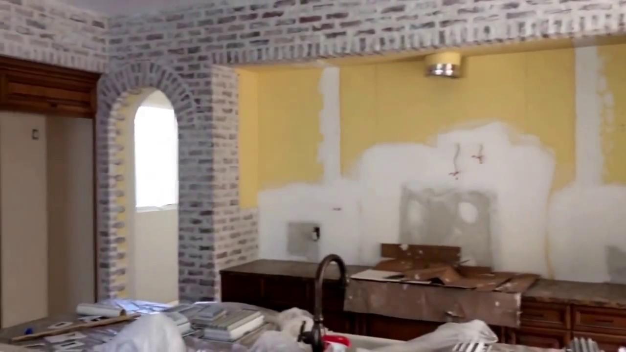 White Washed Brick Veneer