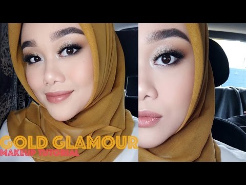 MAKEUP KONDANGAN | GOLD GLAMOUR MAKEUP LOOK | MAKEUP TUTORIAL | MakeupbyFatya