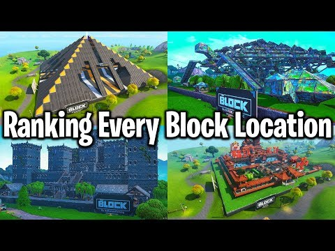 RANKING EVERY BLOCK LOCATION IN FORTNITE (finally)