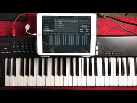 Live Stream - Digital D1 Synth - NEW Spidericemidas FREE Patch Bank - iPad Demo