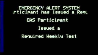 Emergency Alert System (EAS)- Weekly Test, WA/ID, 2015