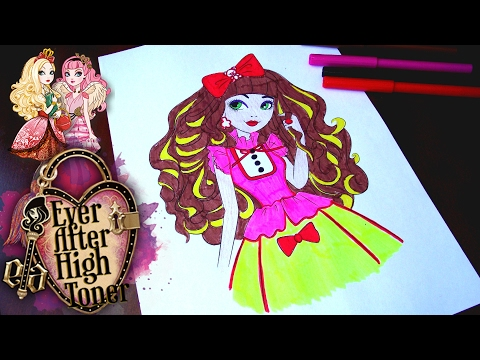 Ever After High COLORING pages  for kids// Эвер Афтер Хай мультик раскраска