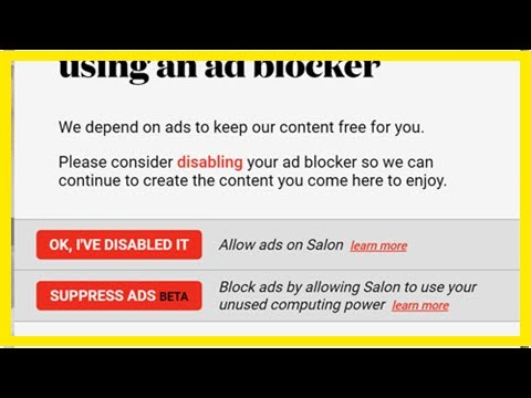 Salon offers crypto-mining option instead of ads | WARC