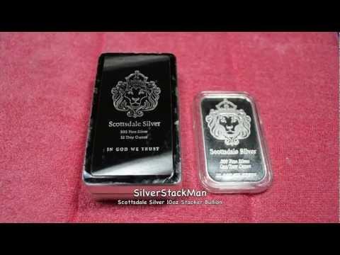 Scottsdale Silver 10oz Stacker Bullion 999 Pure Silver