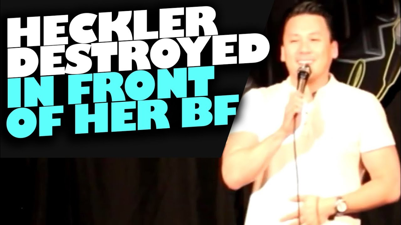 Heckler Destroyed In Front Of Her Boyfriend