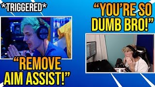 Tfue Reacts To Ninja Wanting Aim Assist *REMOVED* For Controller Players