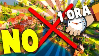 1 ORA INTERA SU FORTNITE SENZA ATTERRARE A MISTY MEADOWS !!