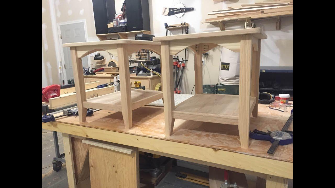 End Tables Made Using Kreg Jig.