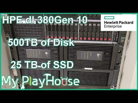 500TB Disk & 25TB SSD in HPE DL380 Gen10 with D6020 - 662