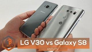 BENCHMARK - LG V30 vs Samsung Galaxy S8 | Antutu