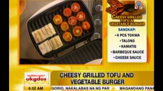 Healthy Baon Recipe: Cheesy Grilled Tofu And Vegetable Burger