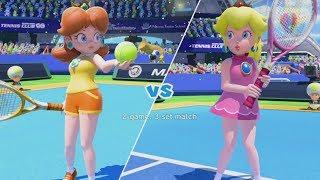 Mario Tennis: Ultra Smash - Daisy vs. Peach - Mega Battle