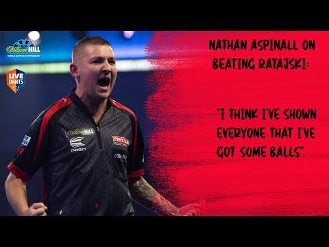 "Nathan Aspinall on beating Ratajski: ""I think I've shown everyone that I've got some balls"""