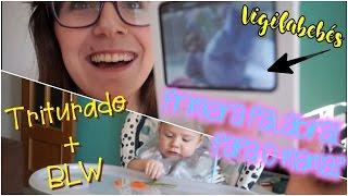 primera palabra de gael comiendo blw y triturado vlog happy ohana