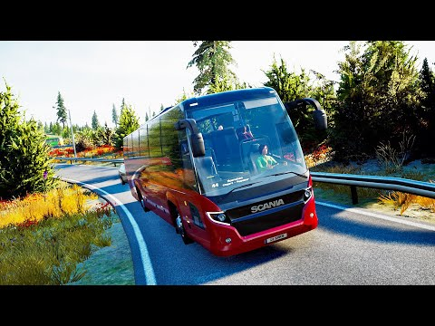 REAL LIFE Graphics ! ! ! Fernbus Simulator - Scania Touring ! ! ! GAMEPLAY ! ! !