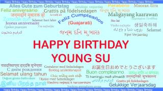 YoungSu   Languages Idiomas - Happy Birthday