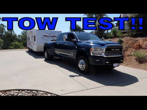 TOW TEST WITH THE 2019 RAM 3500!!!
