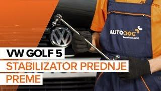 Odstraniti Zglob stabilizatorja VW - video vodič