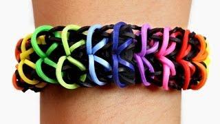 Rainbow Loom Nederlands - Zippy Chain Armband || Loom bands, rainbow loom, nederlands, tutorial