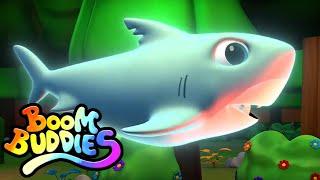 страшная летающая акула хэллоуин песня детские песни Boom Buddies Russia потешки