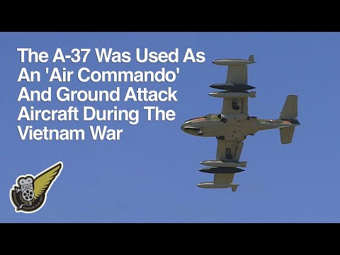 Cessna A-37 Dragonfly Jet Attack Practice Display