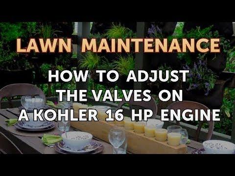 How to Adjust the Valves on a Kohler 16 HP Engine