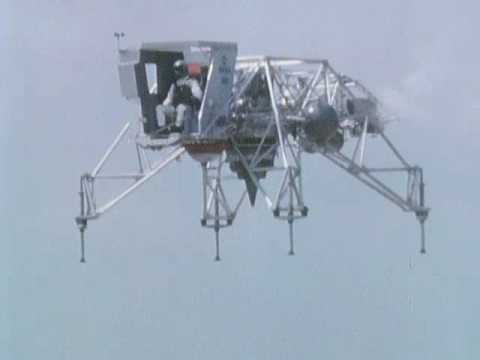 Lunar Landing Research Vehicle (LLRV) Takeoff and Hover Flight