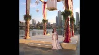 Dubai. Bride and groom couples entrance. Electric cello Pehla Nesha instrumental. Indian wedding.